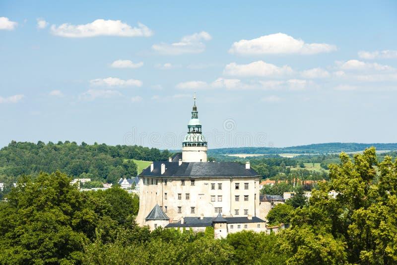 Frydlant Palace, Czech Republic. Outdoors, outside, exteriors, europe, central, eastern, czechoslovakia, bohemia, architecture, building, castle, history stock images