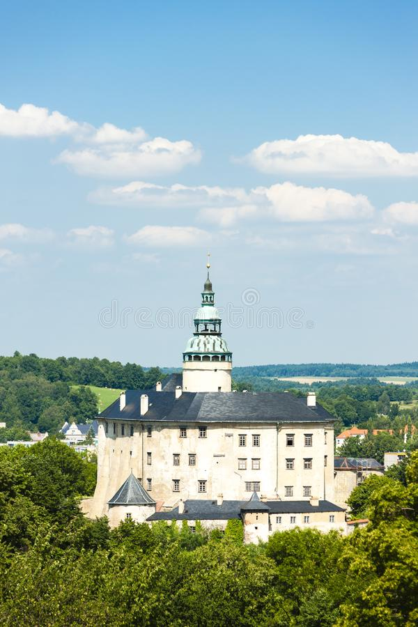 Frydlant Palace, Czech Republic. Outdoors, outside, exteriors, europe, central, eastern, czechoslovakia, bohemia, architecture, building, castle, history royalty free stock images