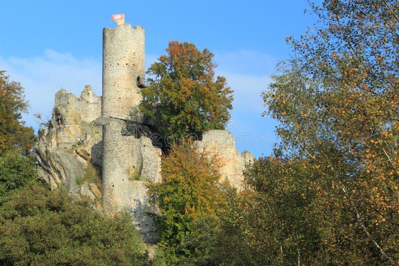 Frydstejn-Schloss lizenzfreie stockbilder