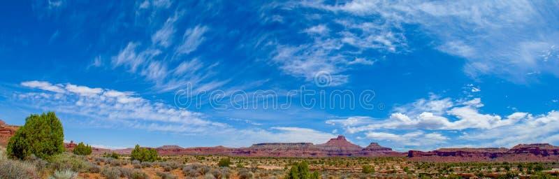 Frye Canyon Vista. Mesas and Buttes along Utah 95 near the Lake Meade National Recreation Area in Utah stock photos