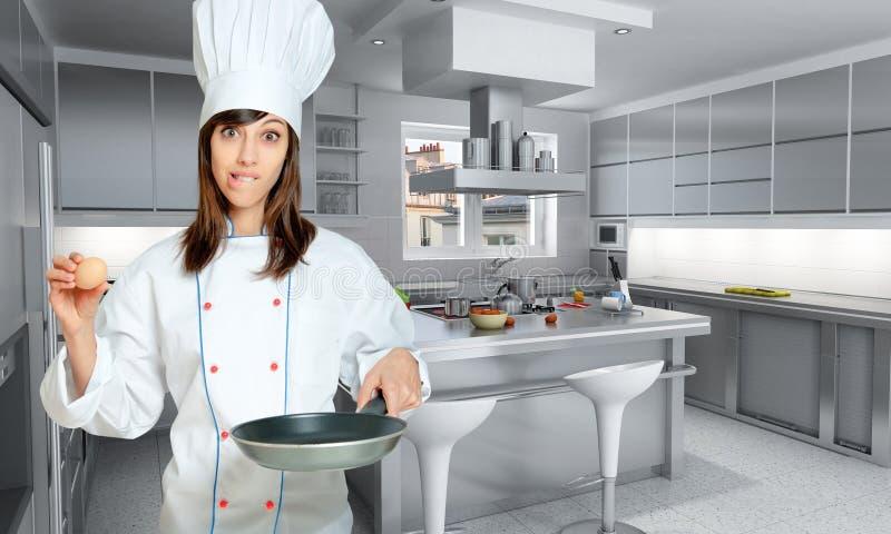Download Frying an egg stock illustration. Illustration of cuisine - 21755591