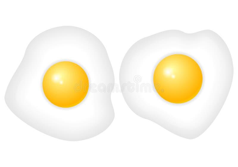 Frying egg. On a white background vector illustration