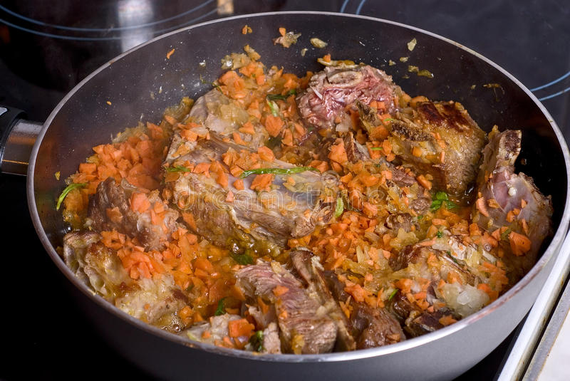 Download Frying meat stock photo. Image of beef, paprika, gourmet - 12460036