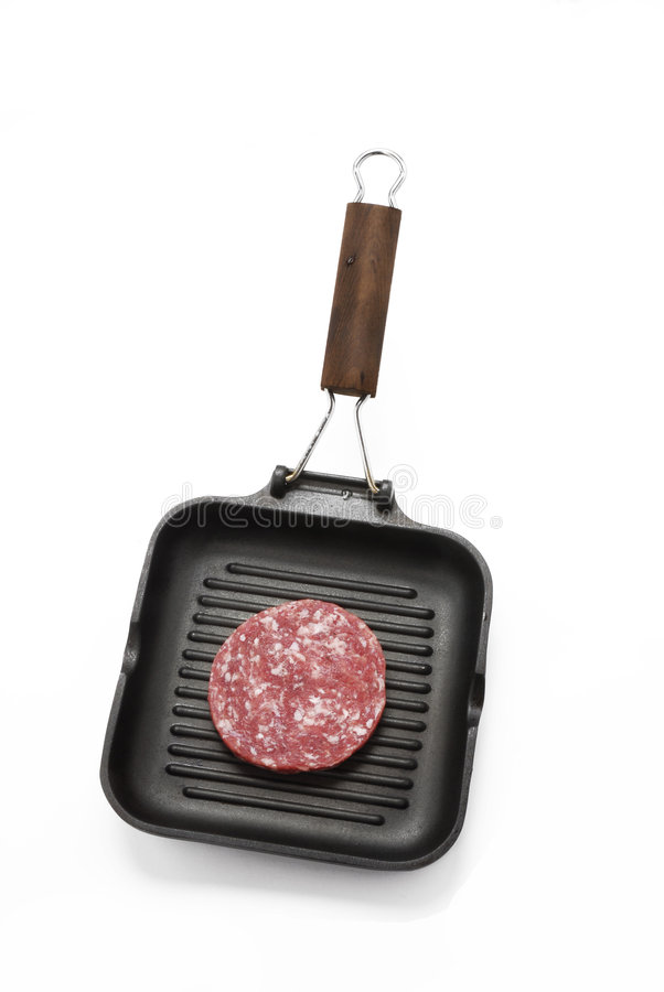 Frying Meat. Stock Images