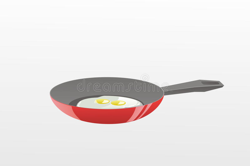 Download Frying pan stock vector. Image of healthy, white, heat - 10682616