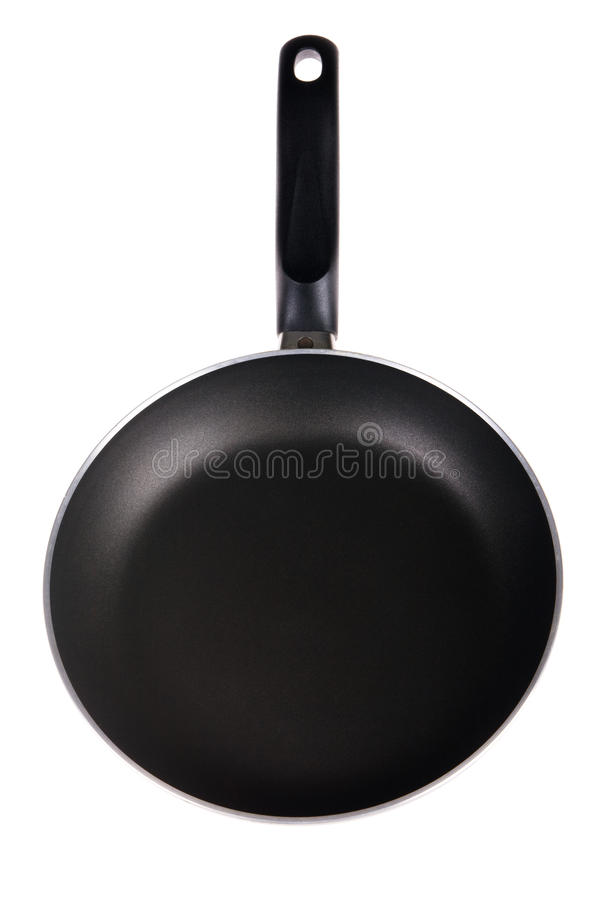 Frying pan. Isolated on white background royalty free stock image