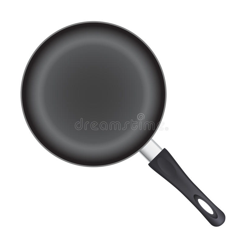 Frying pan. Isolated on white background vector illustration