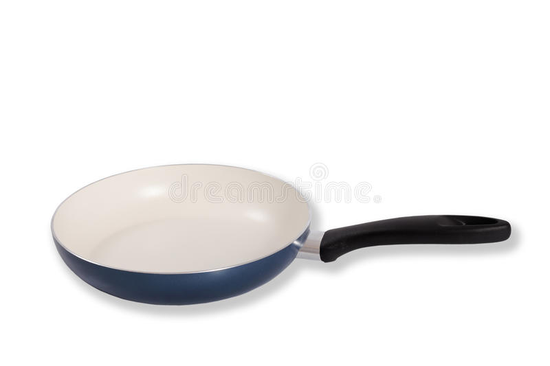 Frying pan. Frying pan isolated on the white stock image