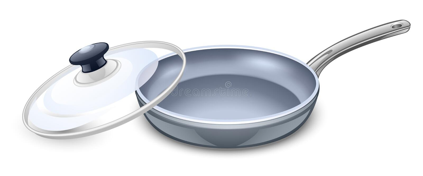 Frying pan. Vector illustration of frying pan on a white background vector illustration