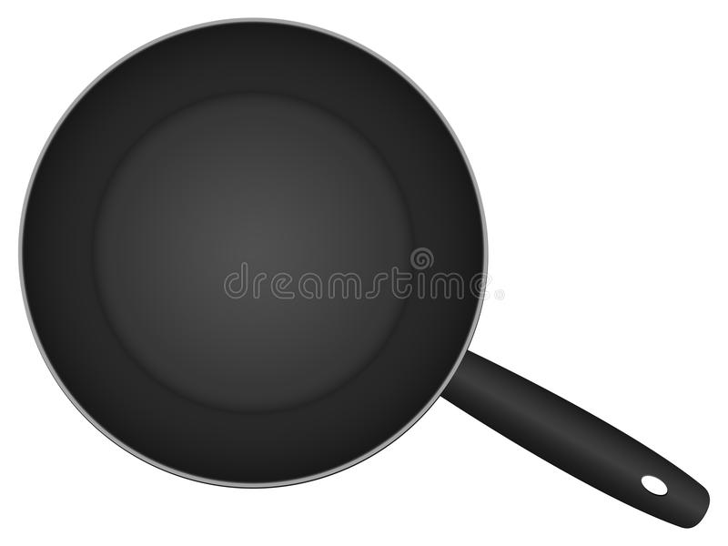 Frying pan. Isolated on a white background. Vector illustration royalty free illustration