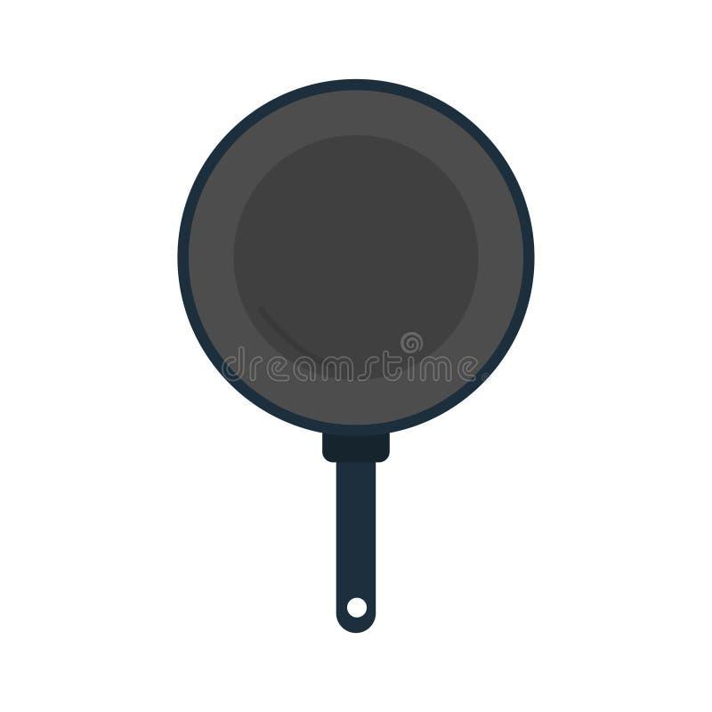 Frying pan cooking utensils graphic royalty free illustration