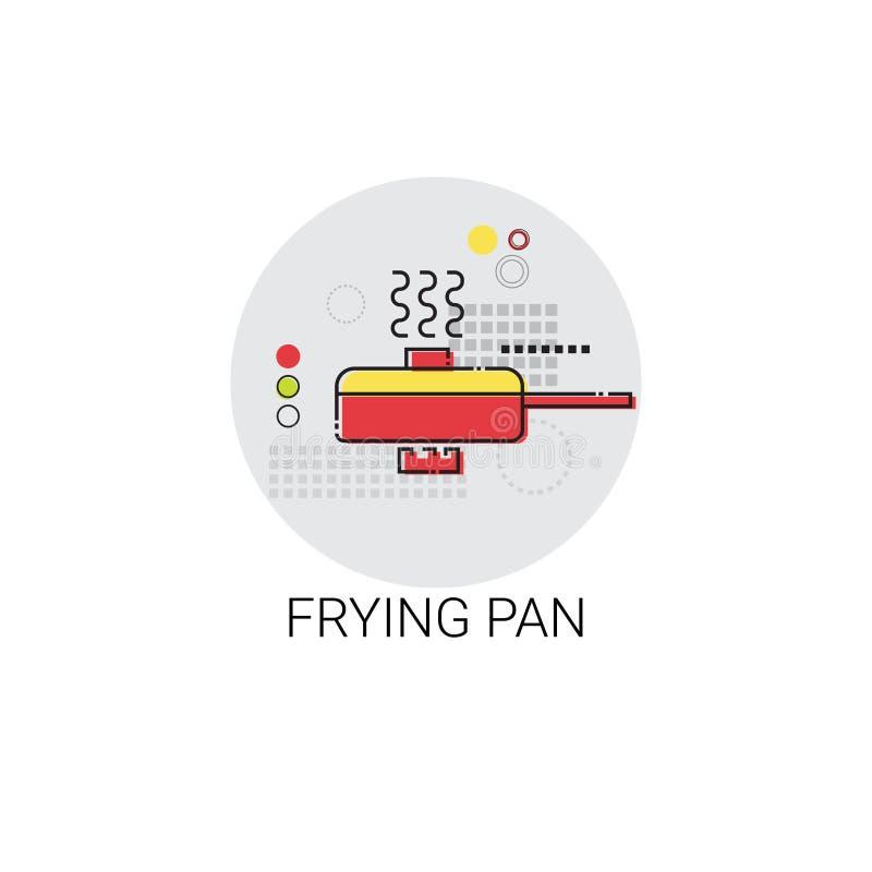 Frying Pan Cooking Utensils Kitchen Equipment Appliances Icon. Vector Illustration stock illustration