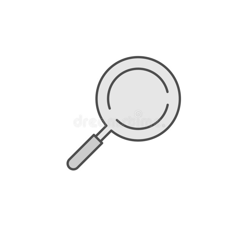Frying Pan with Cover icon. Kitchen appliances for cooking Illustration. Simple thin line style symbol. Eps 10 stock illustration