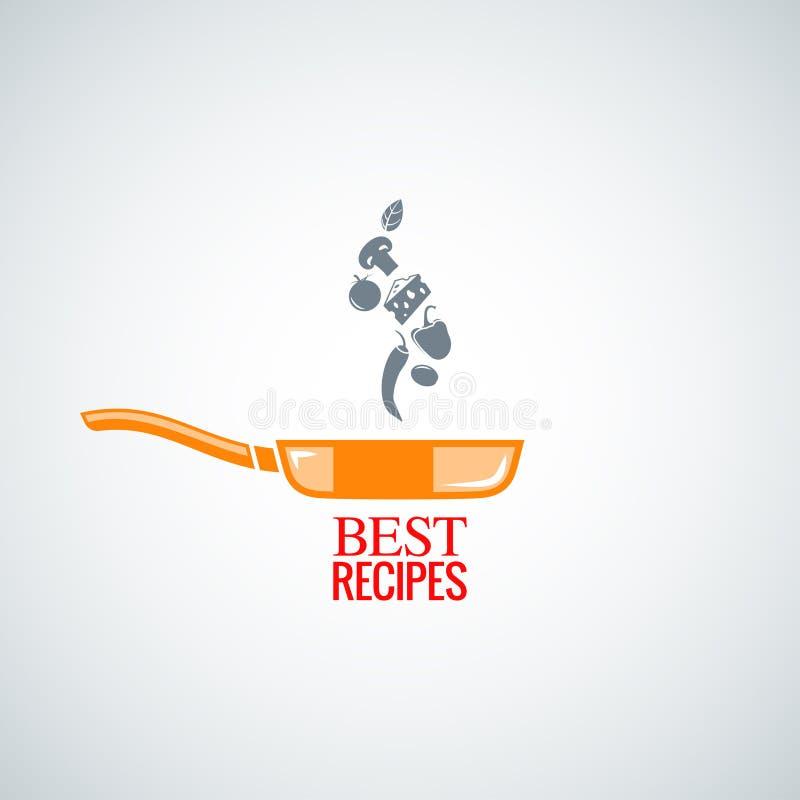Frying pan design background. Frying pan design food background 8 eps royalty free illustration