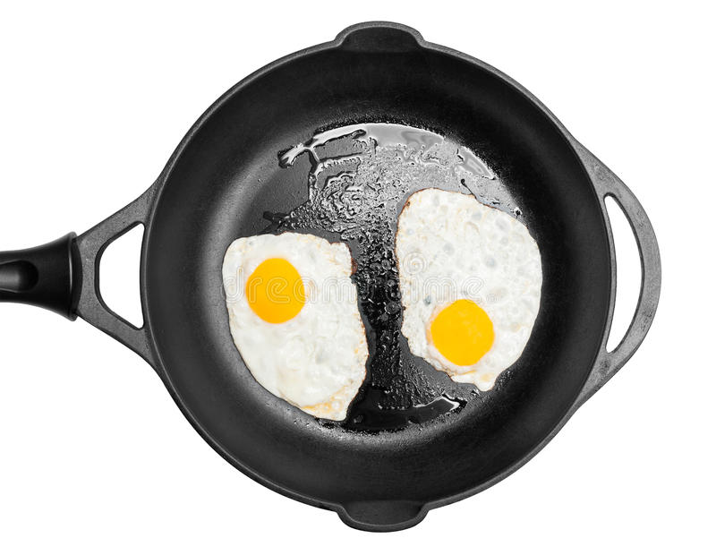 Frying Pan With Eggs Royalty Free Stock Photos