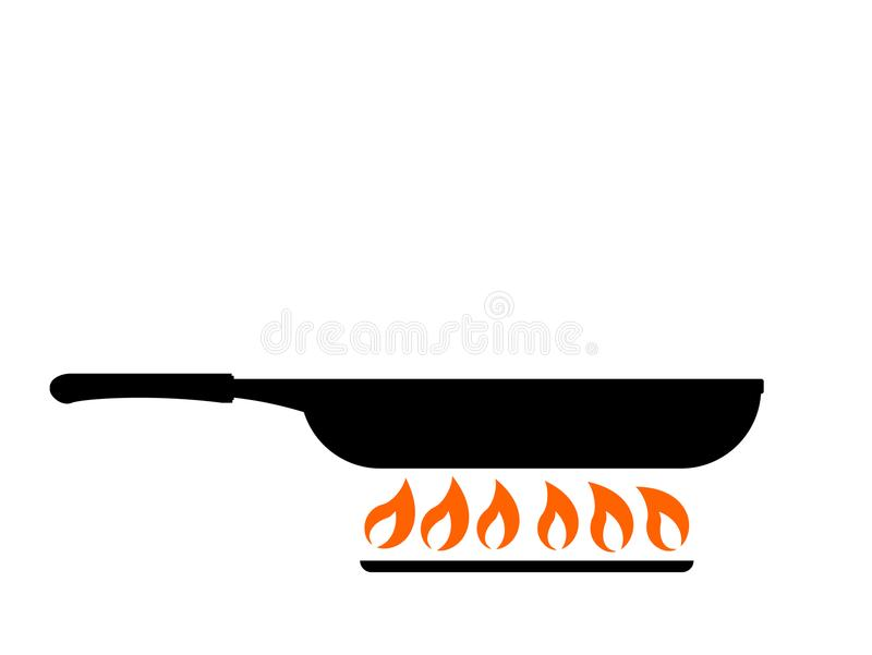 Frying in pan icon. Creative design of Frying in pan icon stock illustration