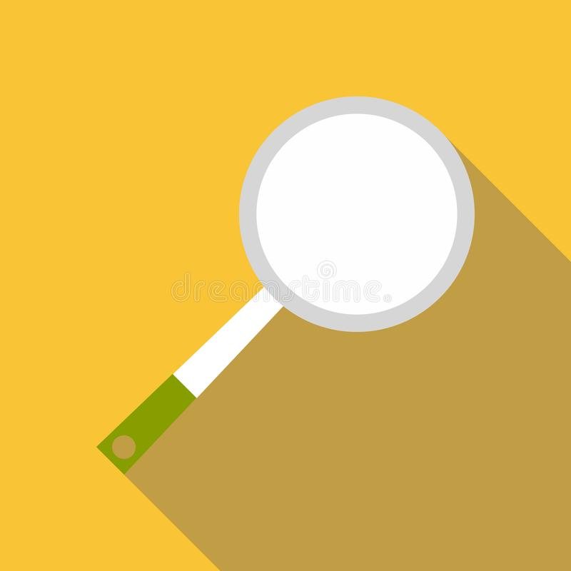 Frying pan icon, flat style. Frying pan icon. Flat illustration of frying pan icon for web royalty free illustration