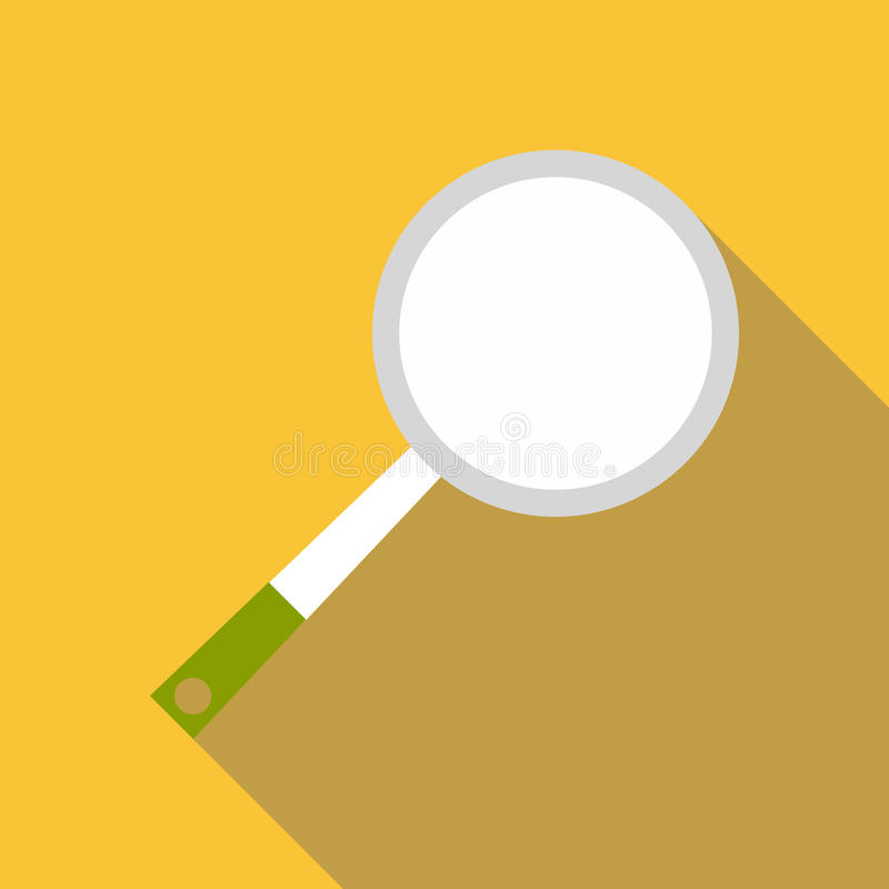 Frying pan icon, flat style. Frying pan icon. Flat illustration of frying pan vector icon for web royalty free illustration