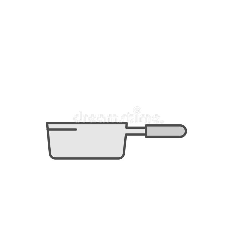 Frying Pan icon. Kitchen appliances for cooking Illustration. Simple thin line style symbol. Eps 10 vector illustration