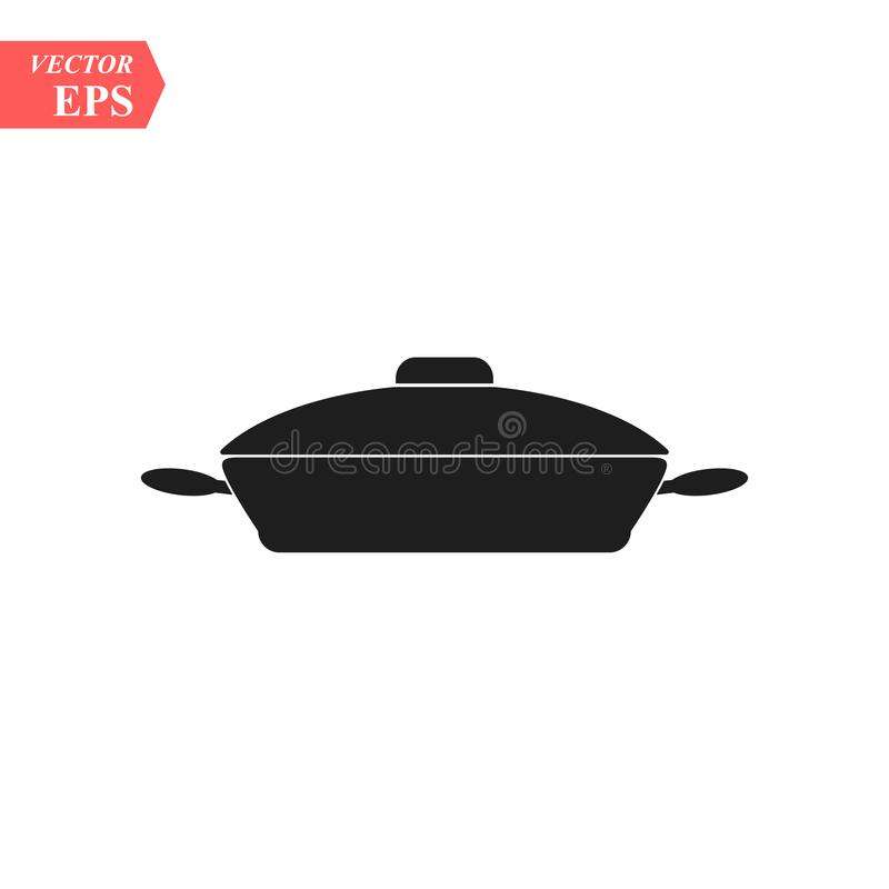 Frying pan icon. Vector concept illustration for design. Eps10 stock illustration