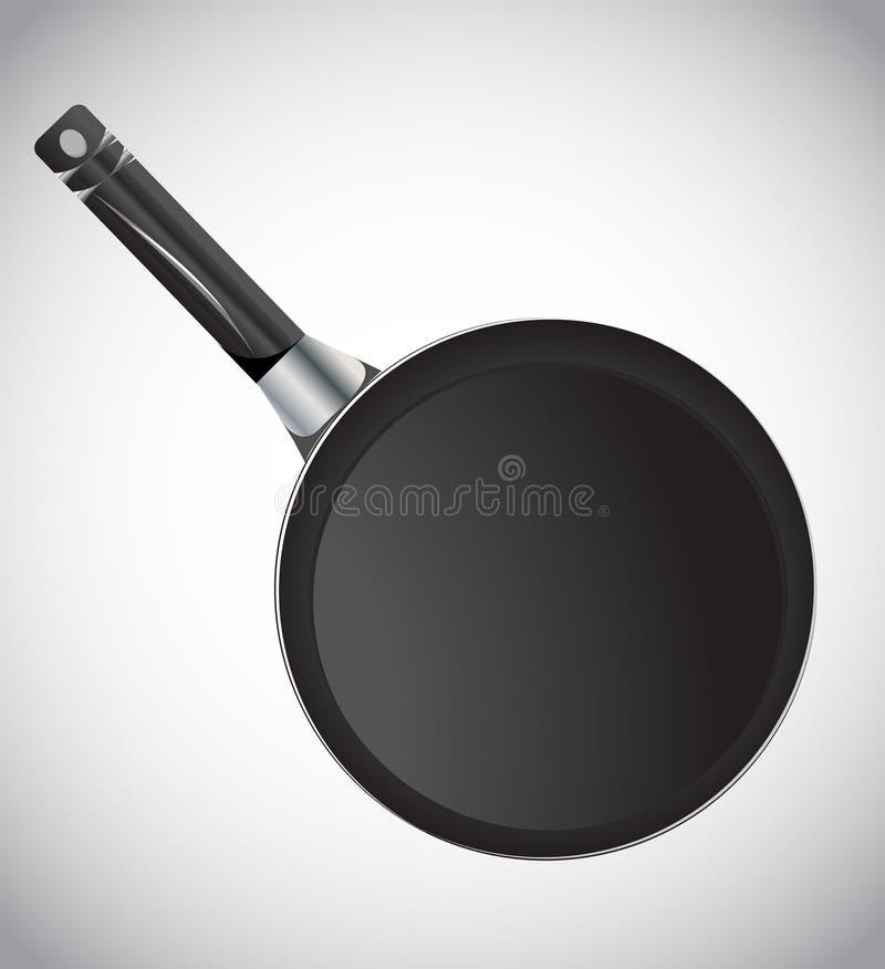 Frying pan,. Illustration on white vector illustration