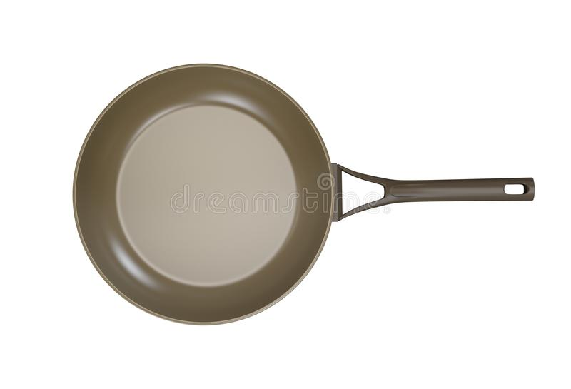 Frying pan isolated. On white stock illustration
