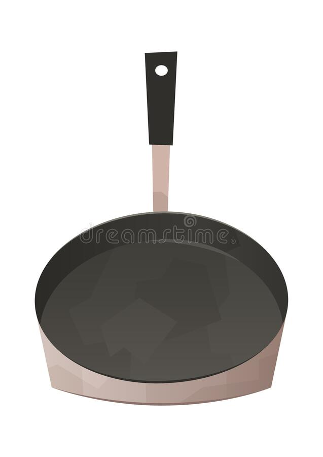 Frying pan isolated kitchen utensils for cooking food royalty free stock image