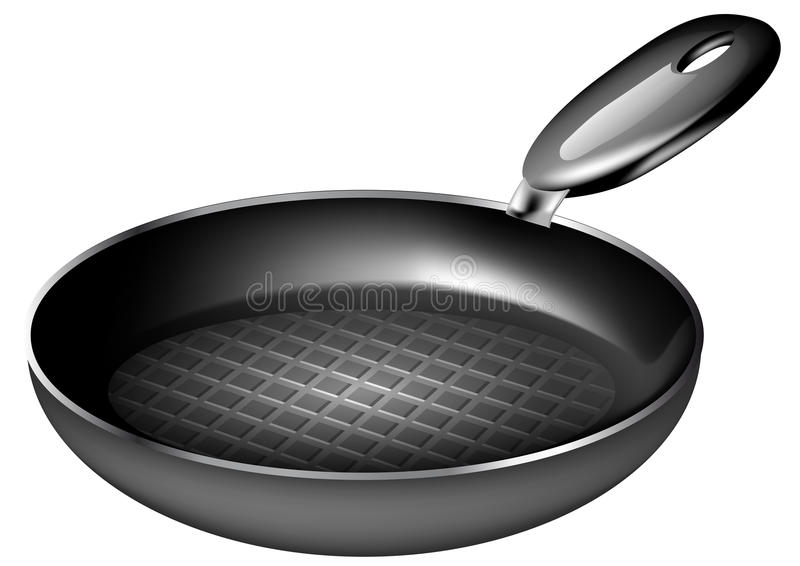 Frying pan. Isolated on a white background stock illustration