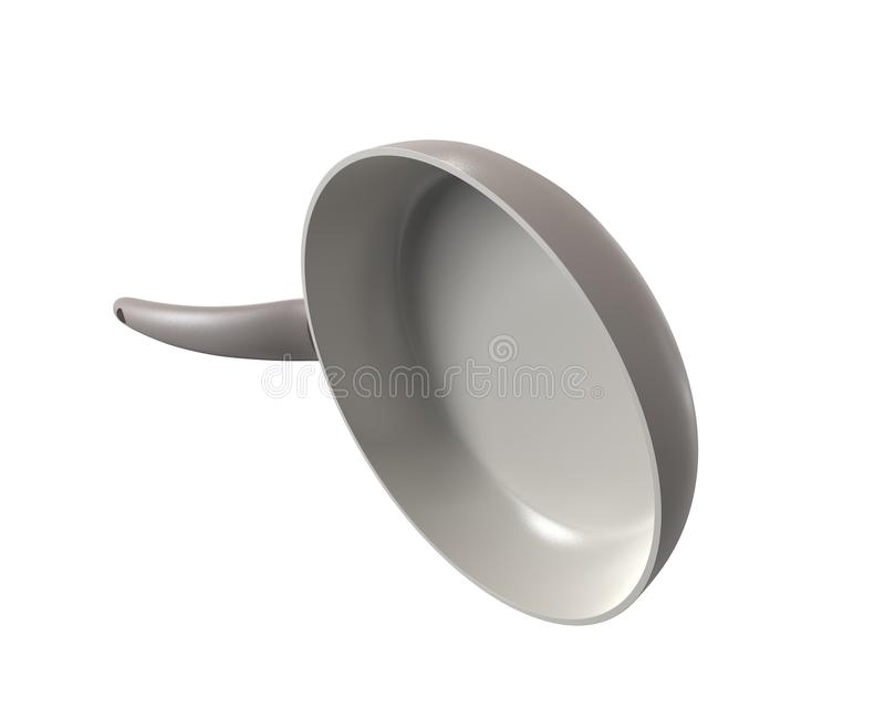 Frying pan isolated. On white royalty free illustration