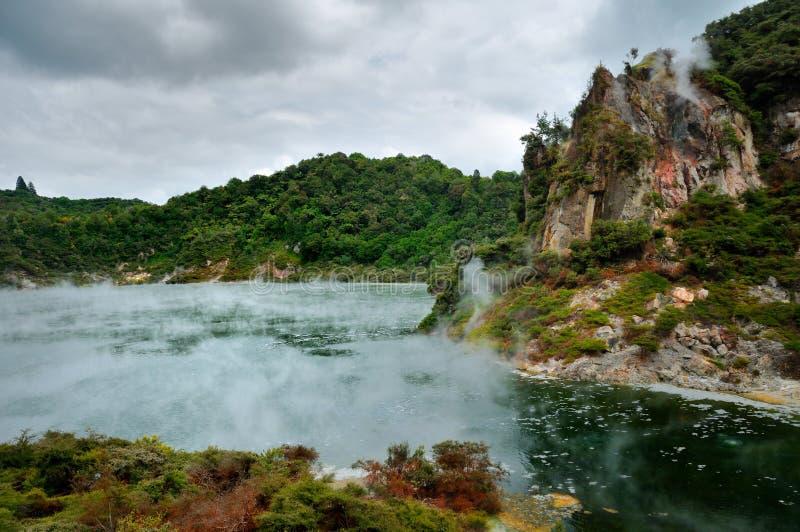 Download Frying Pan Lake, Rotorua, Waimangu Volcanic Valley Stock Image - Image: 15985745