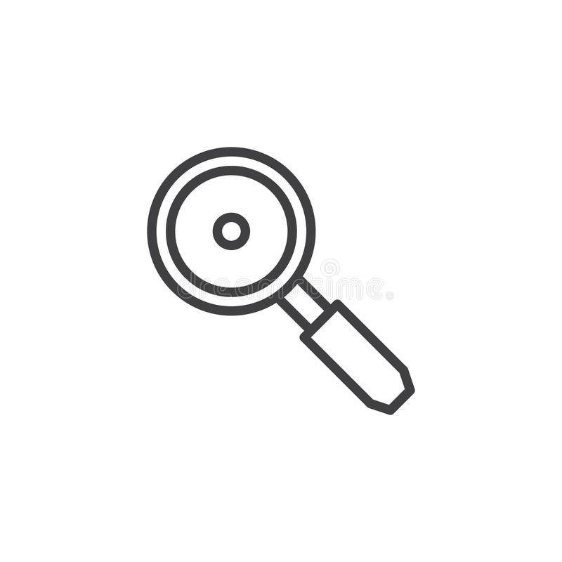 Frying pan outline icon royalty free illustration