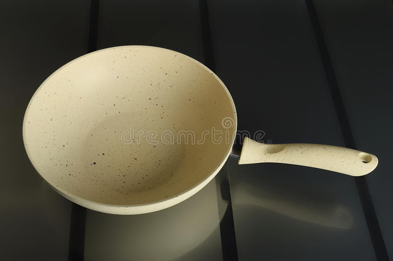 Frying pan, perfect for your recipes stock photography