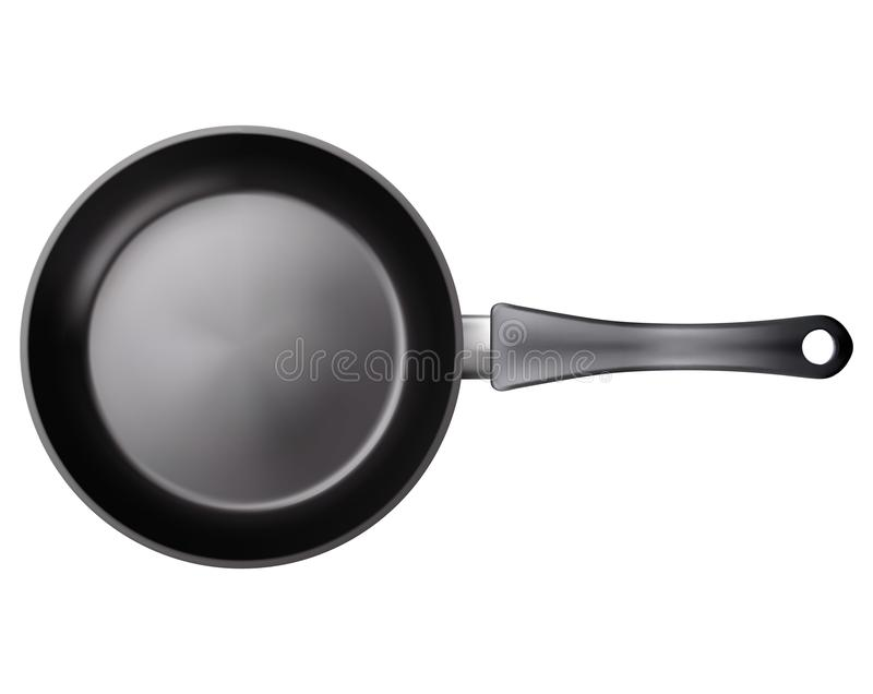 Frying pan. Vector EPS-10 stock illustration