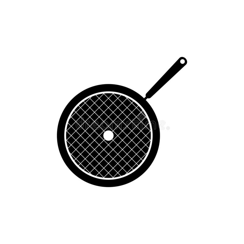 Frying pan vector icon royalty free illustration