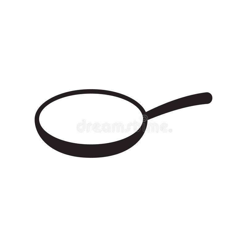 Frying pan vector icon isolated. Frying pan vector icon. Vector illustration isolated on white background vector illustration