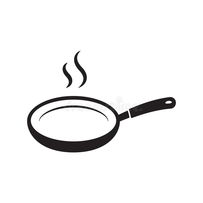 Frying pan vector icon isolated. Vector illustration isolated on white background royalty free illustration