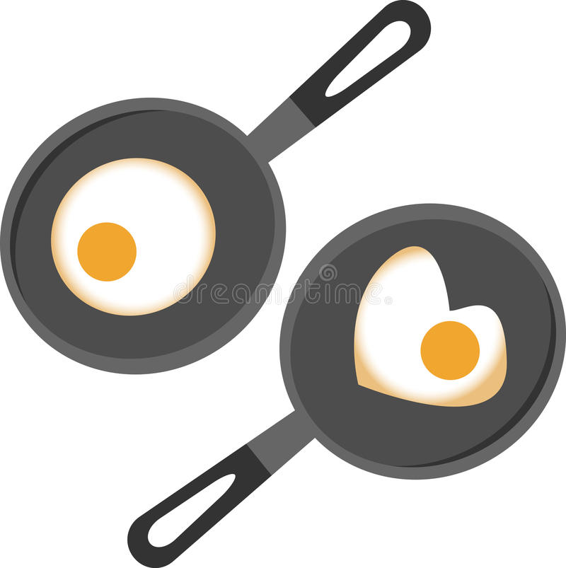 Frying pan. Vector illustration of frying pan vector illustration