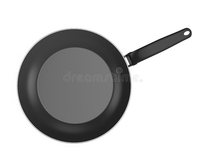 Frying pan. On a white background. 3d illustration vector illustration