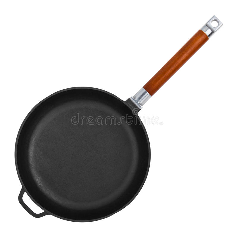 Frying Pan On White royalty free stock photography