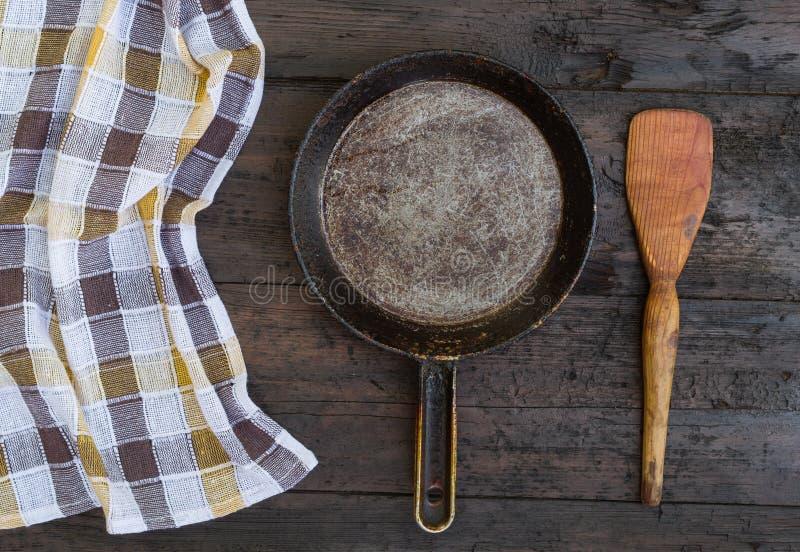 Frying pan royalty free stock photo