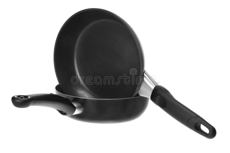 Download Frying Pans stock photo. Image of white, teflon, isolated - 23638268
