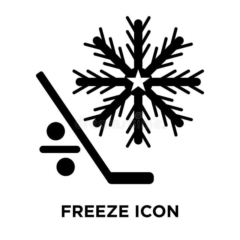 Frysa symbolsvektorn som isoleras på vit bakgrund, logobegrepp av stock illustrationer