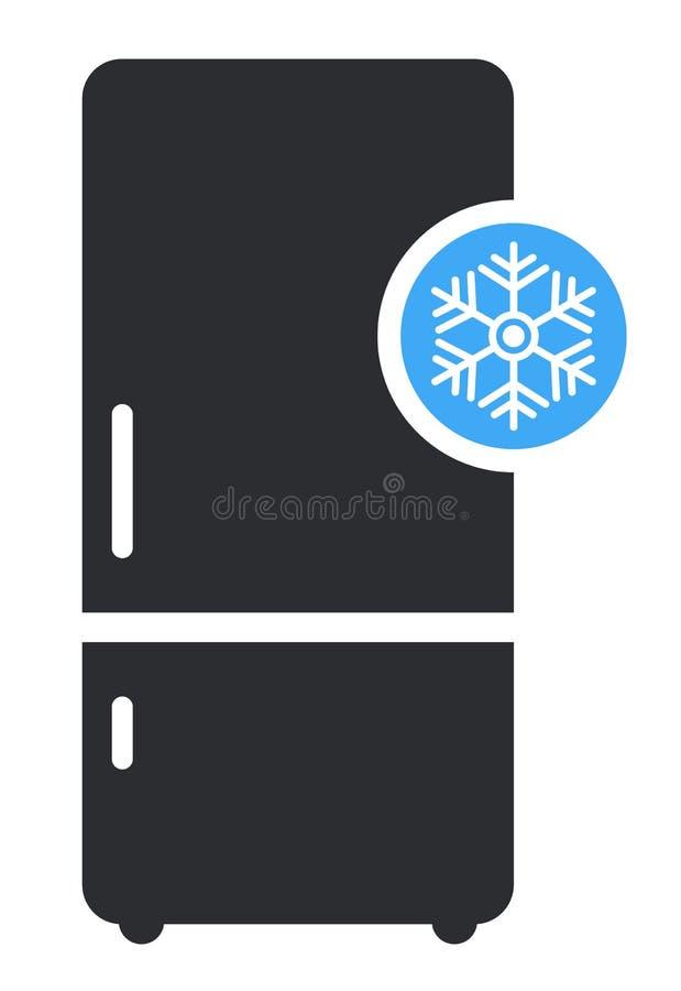 Frysning av den platta ikonvektorn Modern smart signal, solid piktogram isolerat på vit bakgrund stock illustrationer
