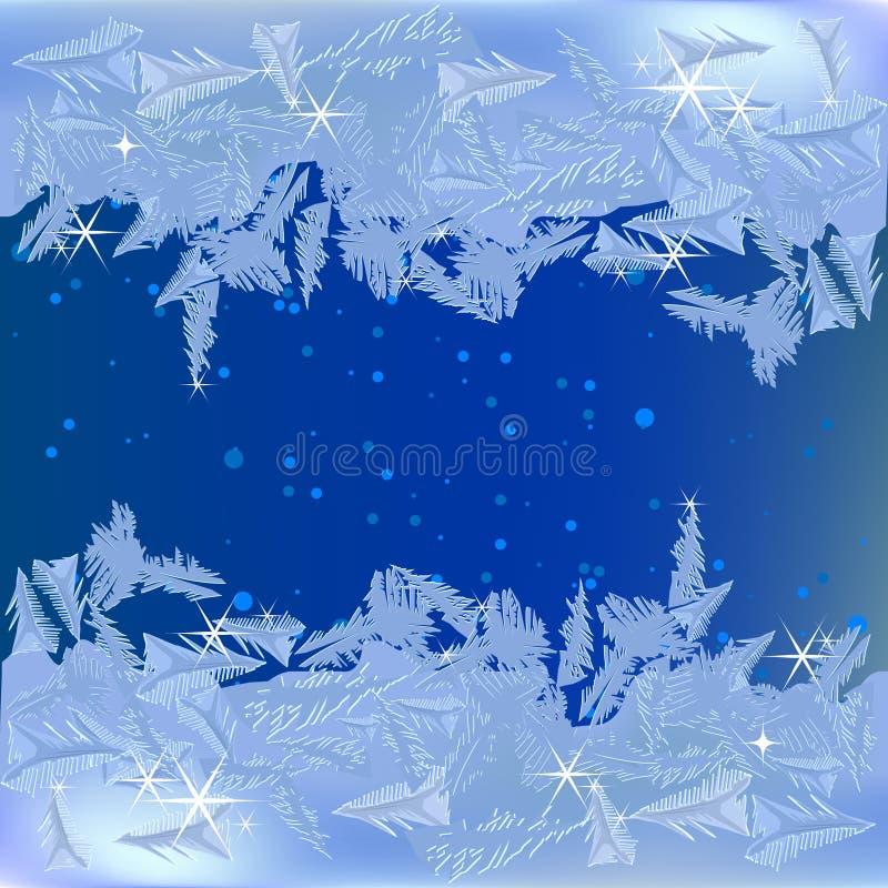 fryst frost vektor illustrationer