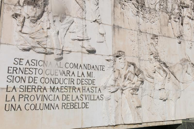 Fryz z ulgą, w Pamiątkowym Ernesto Che Guevara Santa clara Kuba fotografia stock