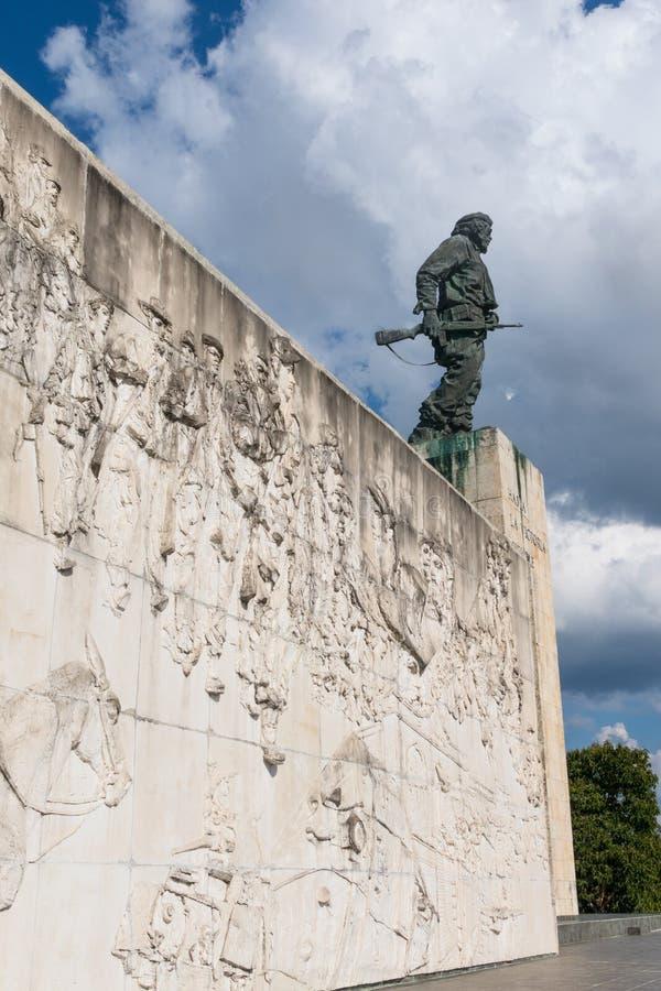 Fryz z ulgą, w Pamiątkowym Ernesto Che Guevara Santa clara Kuba zdjęcie stock