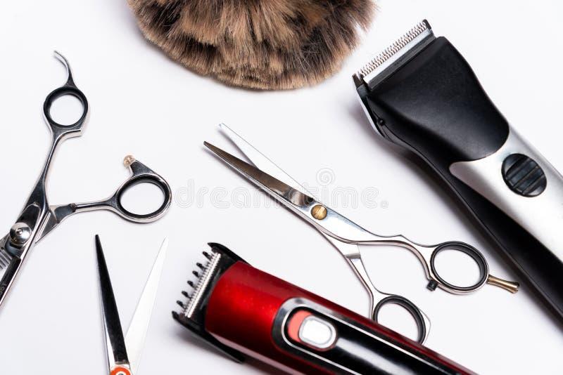 Fryzjerów męskich narzędzia zdjęcie royalty free