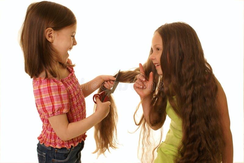 fryzjerów potomstwa obraz royalty free