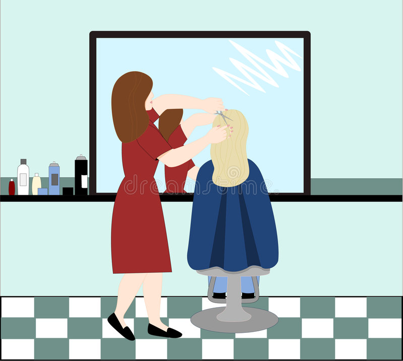 fryzjer ilustracja wektor