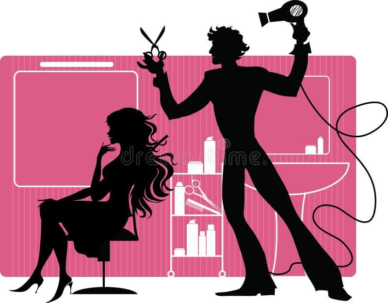 fryzjer męski ilustracji